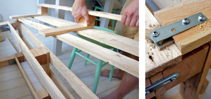 Napravite klupu za dvorište od palete  Uredite Dom