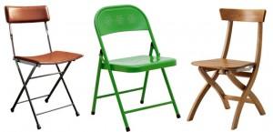Sklopive stolice se lako mogu skloniti u plakar.