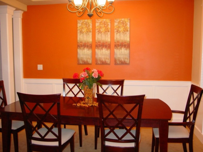 Narandžasta se često koristi u trpezariji.