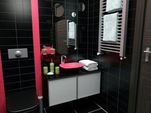 Kako izabrati boje za kupaonicu uredite dom for Bathroom ideas red and black