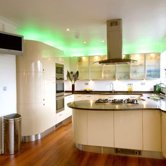 Savjeti za osvjetljenje kuhinje uredite dom for Over cabinet lighting ideas