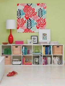 Zagašeno zelena boja je idealna za vaše zidove.