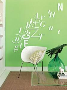 Kombinujte više nijansi zelene boje.