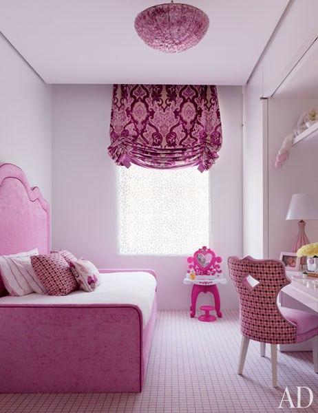 Ružičasta dječija soba
