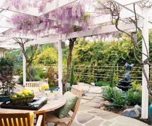 Idealan način da se priroda uklopi sa pergolom je sadnja biljaka puzavica.