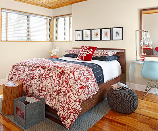Spavaća soba u modernom stilu.