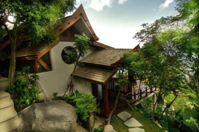 Kuća kroz koju pada vodopad