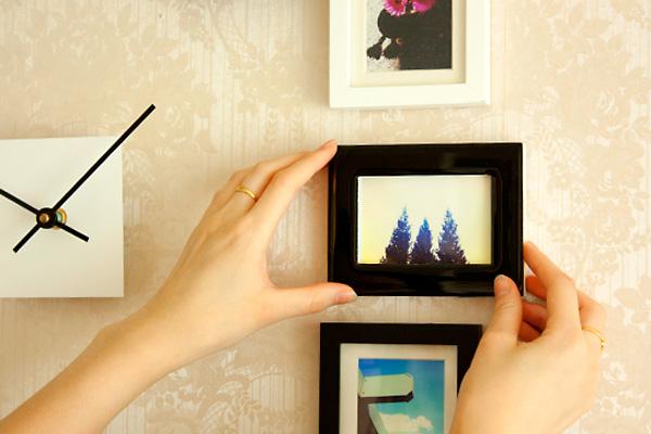 Okačite ramove na zid