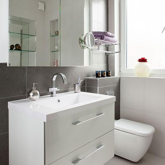 Small Bathroom Ideas White And Grey: 10 Ideja Za Mala Kupatila