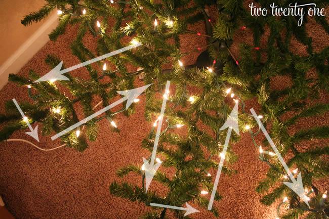 Najbolji način za postavljanje svjetala na bor ili jelku