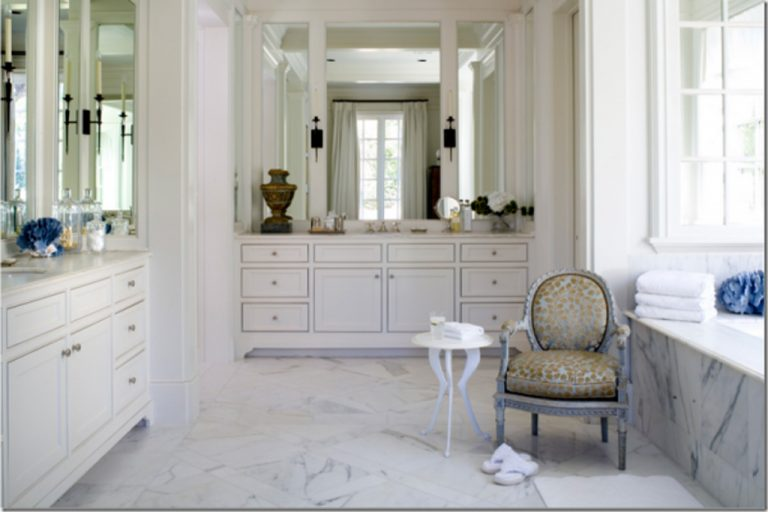 traditional-white-marble-bathroom